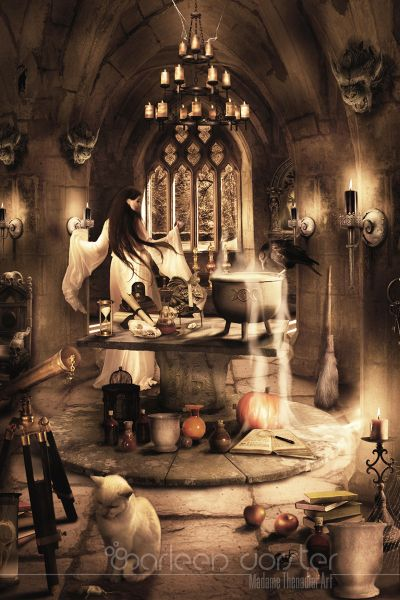 "The Witches dungeon from the series ""Crowded rooms"""